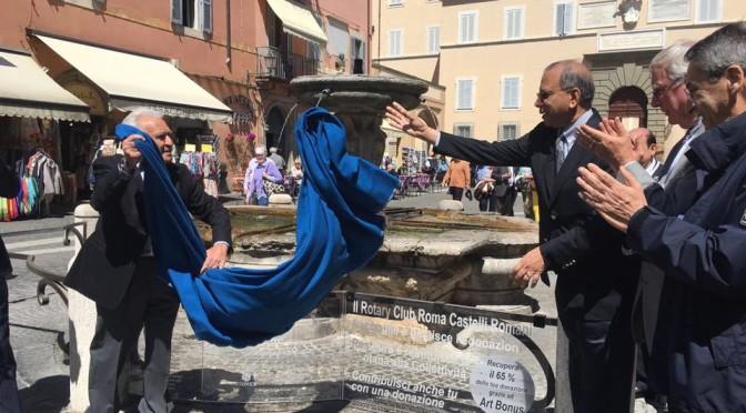 Il Restauro della fontana berniniana di Castel Gandolfo
